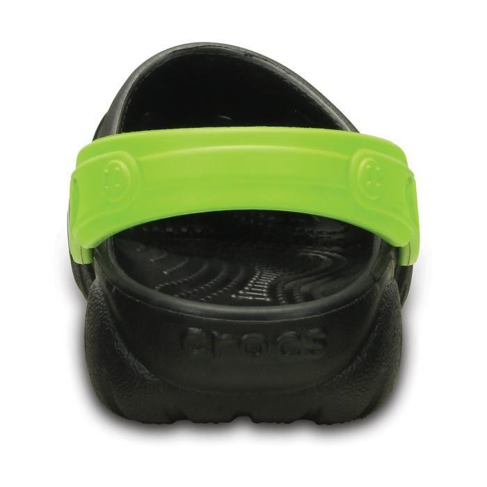 Crocs Sandales Swiftwater Enfant Black/Volt Green