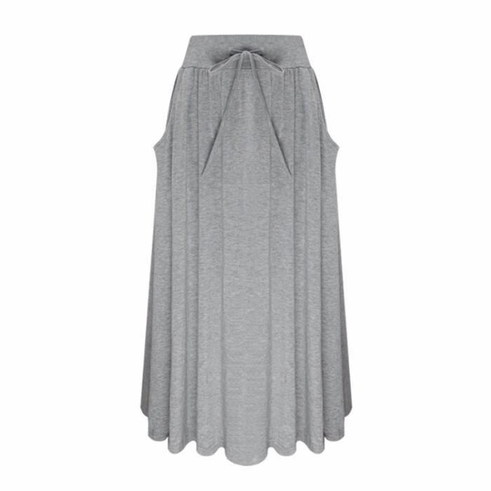 Femmes Occasionnelles Haute Gris Svelte Jupes Tricot Taille odxBCer
