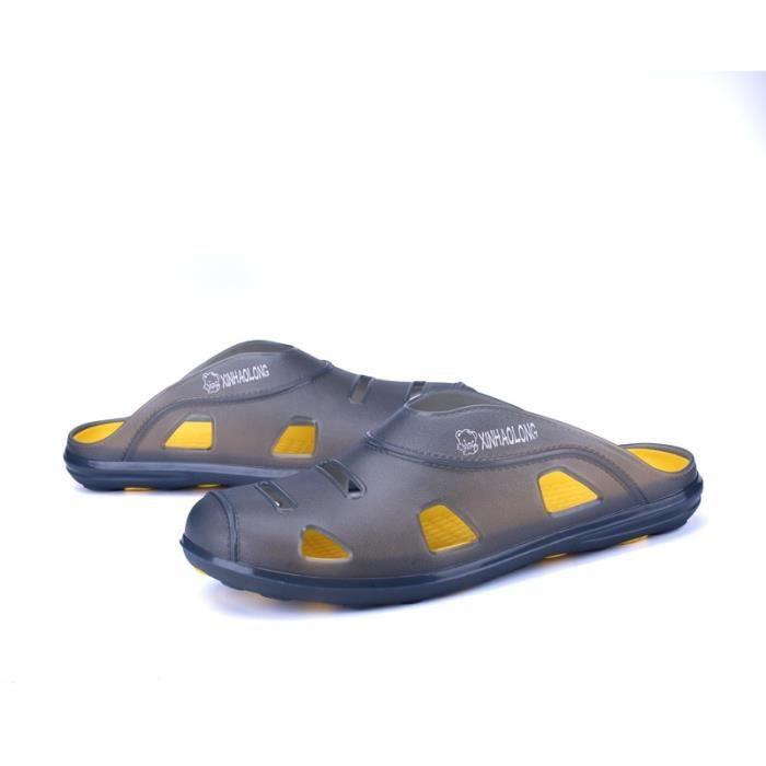 Skid résistance chausse sandalettes simple d'homme