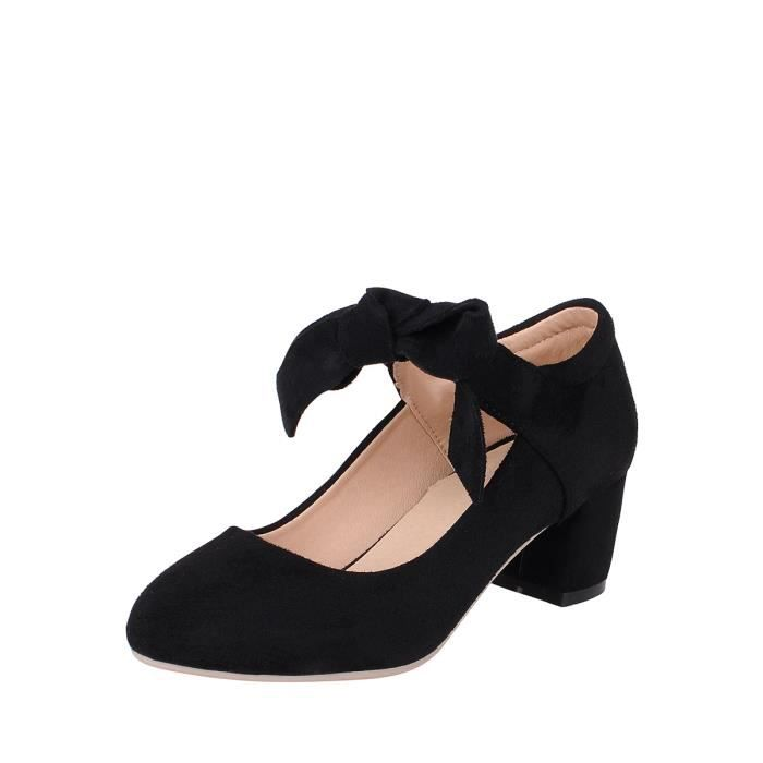Escarpin Talon mi Pompes sélectionl Comfy Faddish épais Chaussures femmes talon 10142290 8HQhT