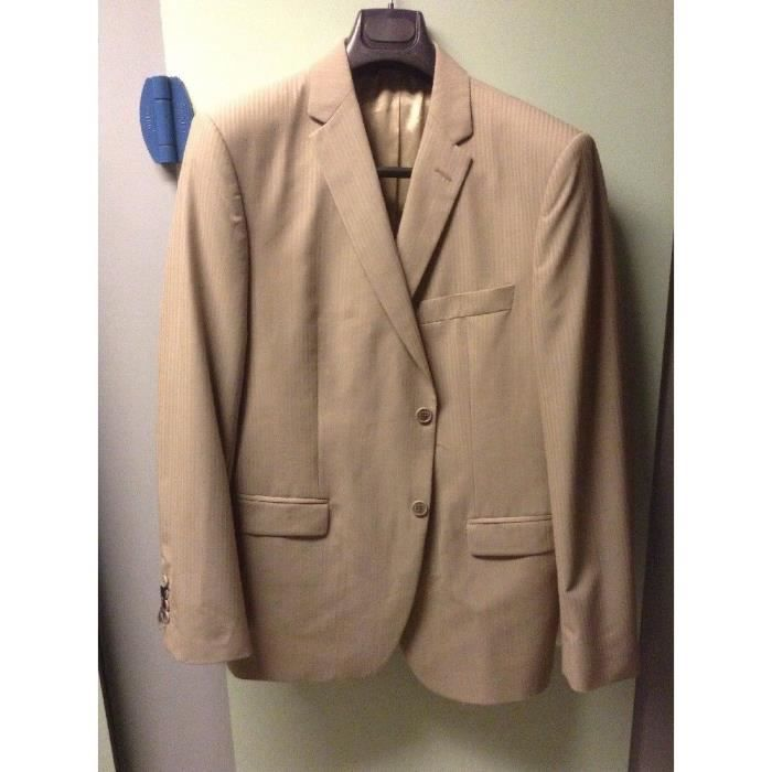 Veste Costume Homme - Marque Serge Blanco - Beige - T54- Neuf ... 2ae6f35d42a