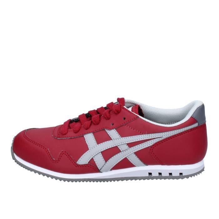 Chaussures Rouge Cuir Onitsuka Asics By Femme Ah831 Tiger Baskets 1JlT3FKc