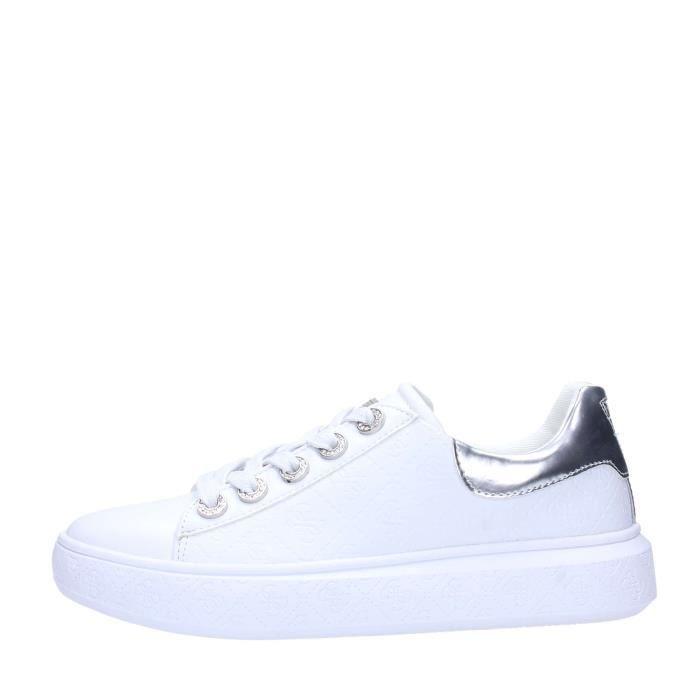 Guess Sneakers Femme Blanc Blanc Blanc - Achat   Vente basket ... 19d3e25058b