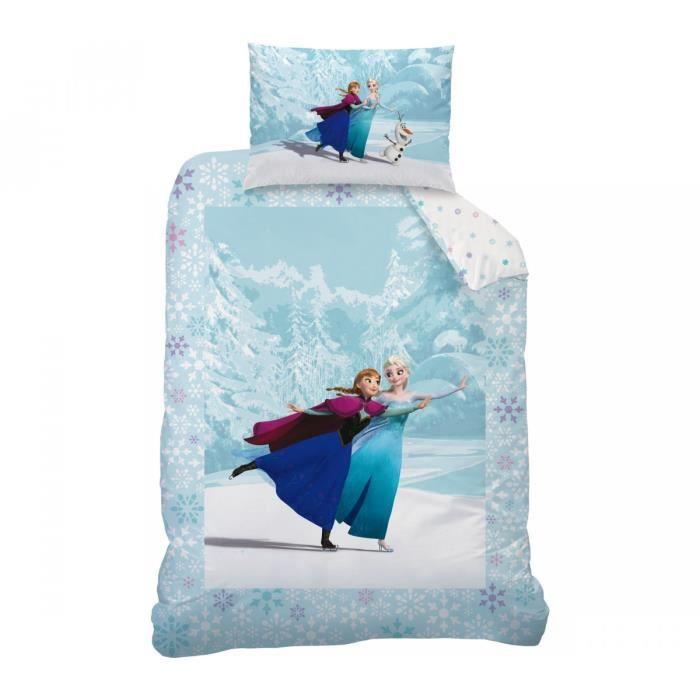 linge de lit reine des neiges - achat / vente linge de lit reine