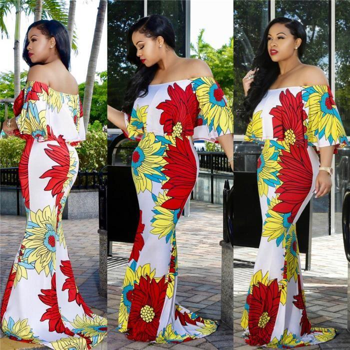 Femmes Robes Collier À Un Mot 3D Impression Vetement Courroies Loisirs Slim Vetements Nouvelle Mode Loisirs Beau Grande Taille S-XL