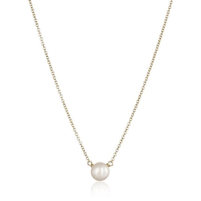 Dogeared Bridal Bridesmaid White Button Freshwater Cultured Pearl Necklace, 16 YJK53