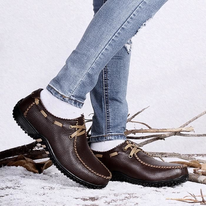 Hommes Chaussures d'hiver Dady Chaussures Mode Hommes Chaussures Plus coton velours Size37-47