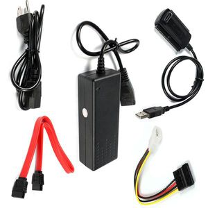CÂBLE E-SATA USB 2.0 à IDE SATA S-ATA 2.5 3.5 Disque dur HD HDD