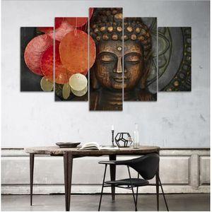 OBJET DÉCORATION MURALE Hot Sale Résumé Unframed HD Print 5 Pieces Bouddhi