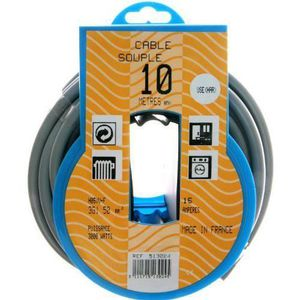 CÂBLE - FIL - GAINE PROFIPLAST Couronne de câble 10 m HO5VVF 3G 1,5 mm