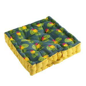 COUSSIN - MATELAS DE SOL coussin de sol 45 x 45 x 10 cm coton imprime domin