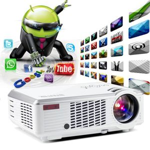 Vidéoprojecteur Smart Android Home Theater portable HDMI USB LCD L