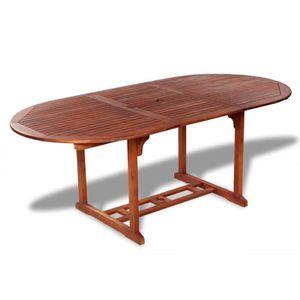 TABLE À MANGER SEULE Table de salle à manger d'extérieur extensible en