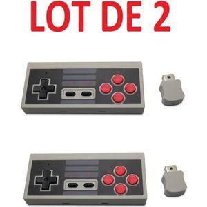 MANETTE JEUX VIDÉO 2 X Manette NES contrôleur sans fil pour Nintendo