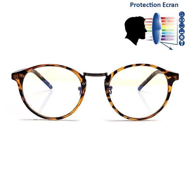 Lunettes Anti Reflet Bleu Ronde Léopard - Achat   Vente lunettes ... ea4a8800e048