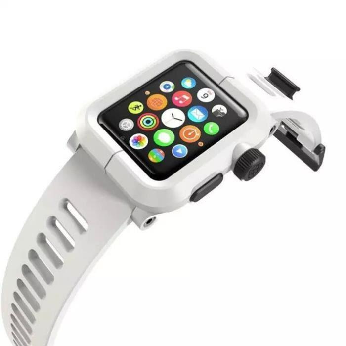 coque apple watch 42mm lunatik blanc achat protection montre conn pas cher avis et. Black Bedroom Furniture Sets. Home Design Ideas