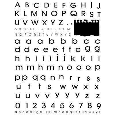TAMPON DÉCORATIF Set de tampons transparents alphabet