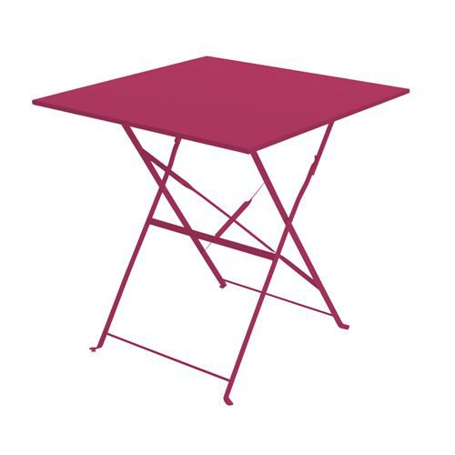 Table bistrot pliante rouge