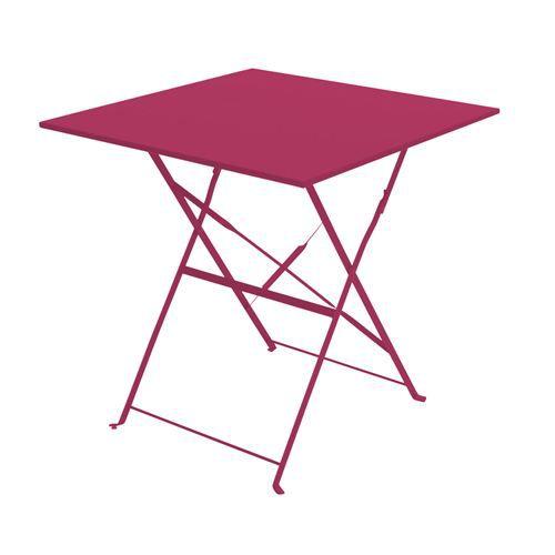 Salon de Jardin 4 Chaises 1 table d\'extérieur en fer Marron - Chemin ...