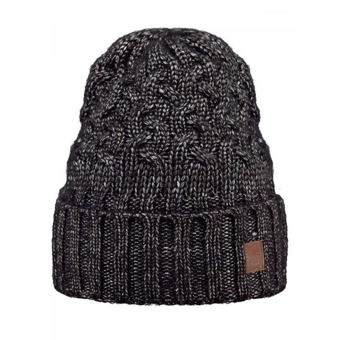 fe9a673e078 BARTS - Bonnet en maille torsadée noir du 10 au 18 ans Barts Noir ...
