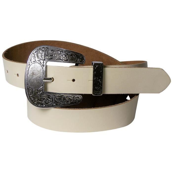 Ceinture western pour femme FRONHOFER ceinture country de 3,6 cm de large,  boucle western typique,ceinture en cuir véritable, 17884 0e3c53a6e32