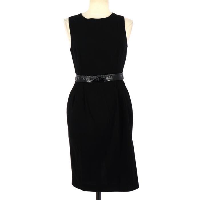 4b61723eedf10 Robe DOLCE   GABBANA FR 38 Noir Noir - Achat   Vente robe - Cdiscount