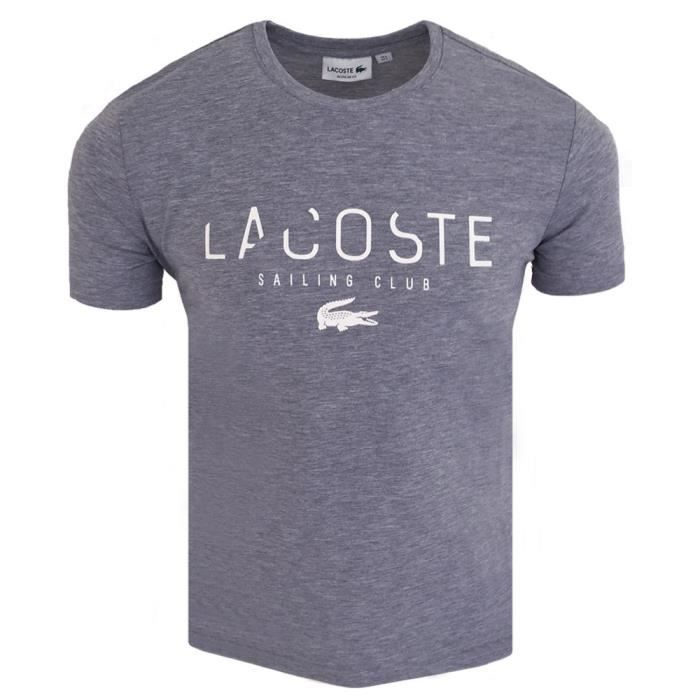 2d0b7c94b2 T-shirt homme Lacoste T-shirt S-Club gris Gris Gris - Achat / Vente ...