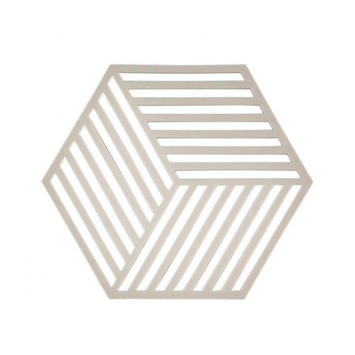 Dessous de Plat Design Hexagone Silicone Gris 0,000000 - Achat ...