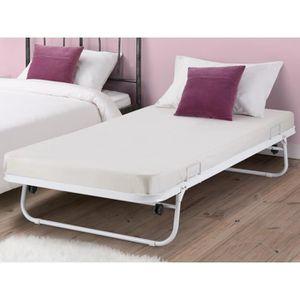 lit pliant meuble achat vente lit pliant meuble pas cher soldes d s le 10 janvier cdiscount. Black Bedroom Furniture Sets. Home Design Ideas