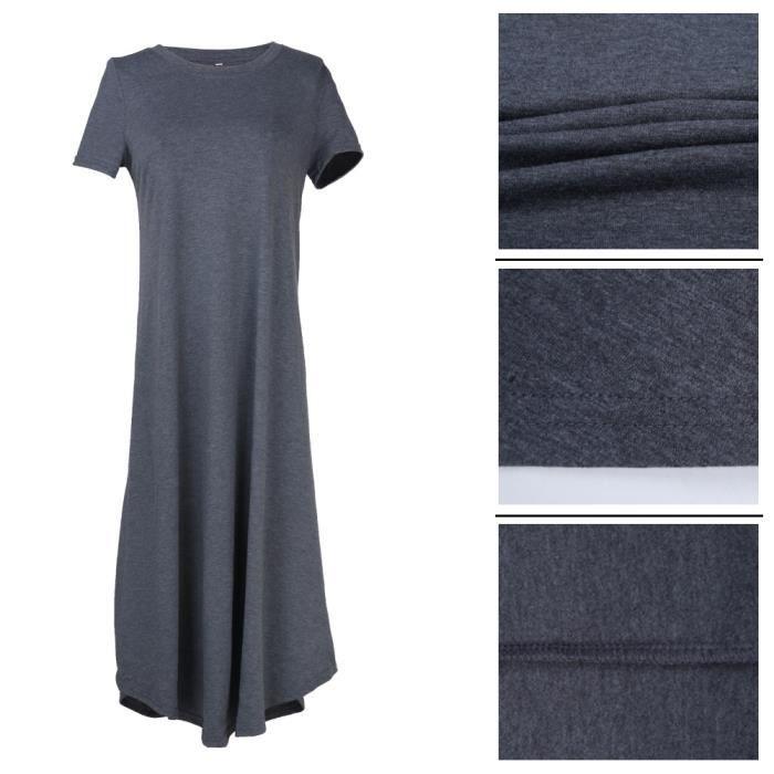 Femmes Robes Mode Loisirs En vrac Robe élégant Respirant Coton vêtement Nouvelle Mode Grande Taille S-XL