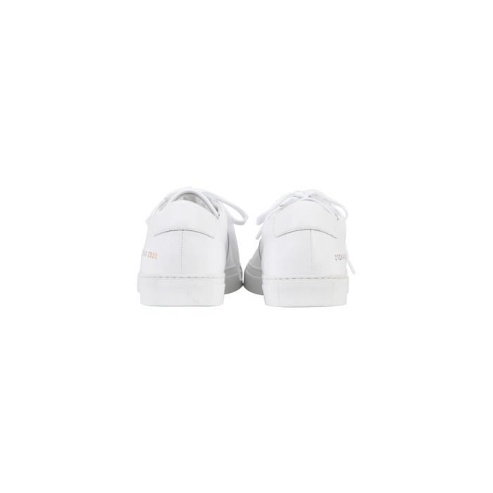 COMMON PROJECTS HOMME 2128506 BLANC CUIR BASKETS