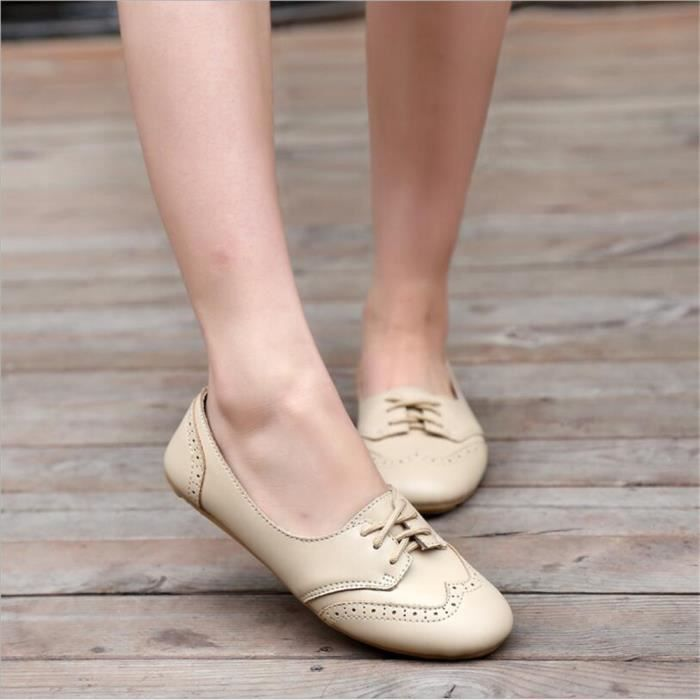Chaussures Femmes Cuir Occasionnelles Leger Chaussure BJXG-XZ043Blanc38 GxCY16wEll