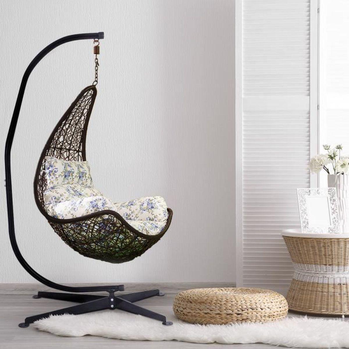 fauteuil suspendu interieur achat vente pas cher. Black Bedroom Furniture Sets. Home Design Ideas