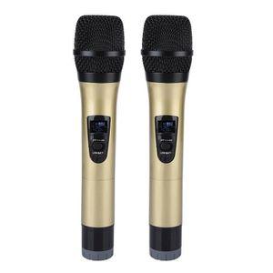 HAUT-PARLEUR - MICRO Microphone à main sans fil universel VHF avec réce