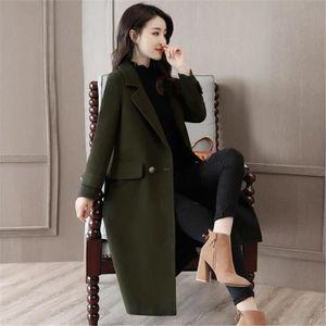 4bd79c79e29 MANTEAU - CABAN long Coupe-vent manteau femme hiver Élégant Style