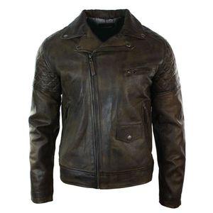 db72ef8600bd VESTE Aviatrix Veste Cuir Véritable Homme Style Vintage