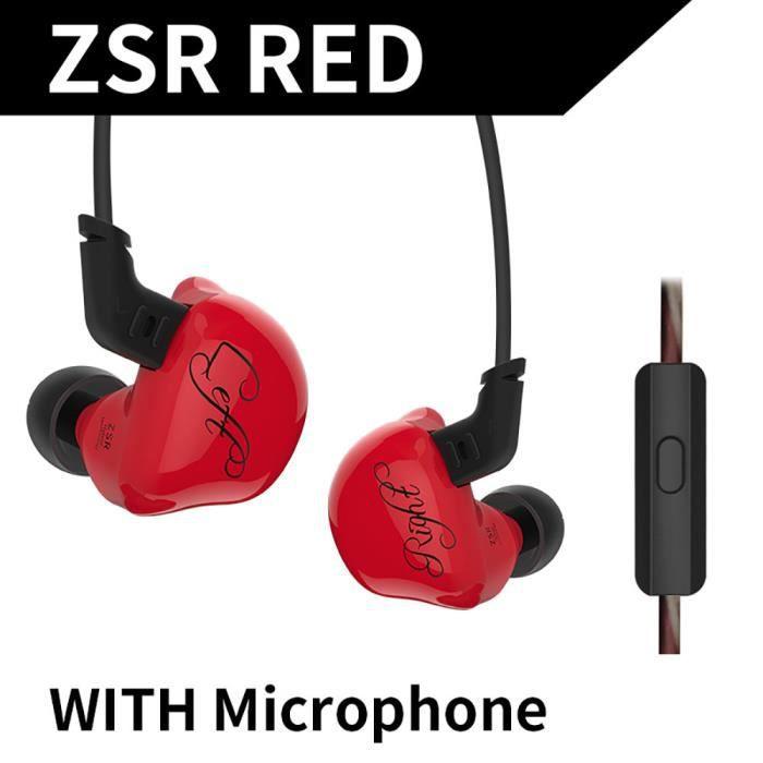 Kz Zsr Écouteurs Intra-auriculaires Stéréo Hifi Deep Bass Pour L'exécution De La Marche Jogging @hot4521