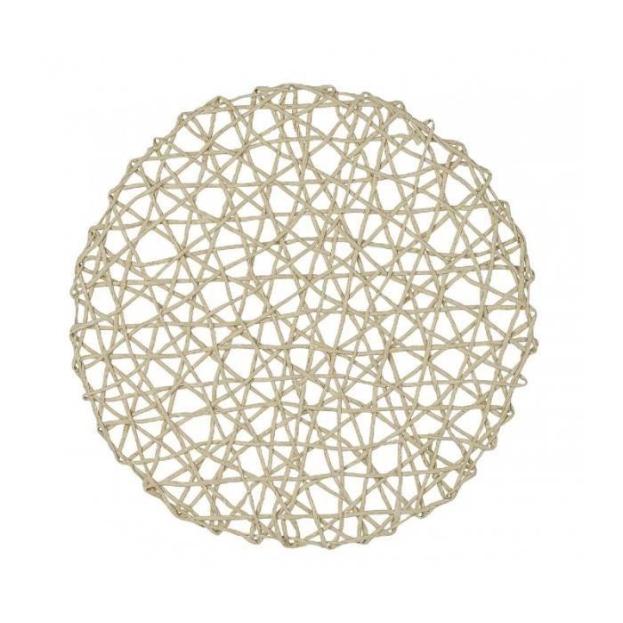 Set de Table Rond Beige - Diamètre 36cm 0,000000