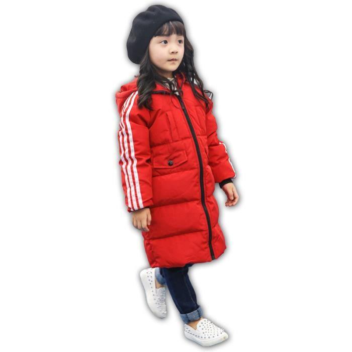Veste Garçon Enfant Chaud Fille Manteau Plume Doudoune Hiver Rouge wqXCBfS