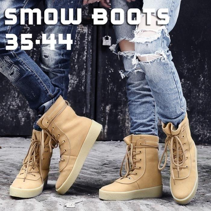 soie Chaussures Martin de High hommes Couple British Bottes en mousseline neige Skeleton piston d'oreiller de Bottes qzzwY