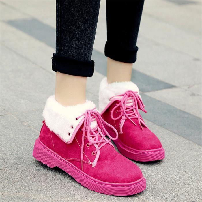 Femme Bottes Nouvelle Mode Plus De Cachemire Chaussure Chaud Doux Haut qualité Marque Femmes Confortable Bottine Plus Taille 35-40 Si2bwsLr