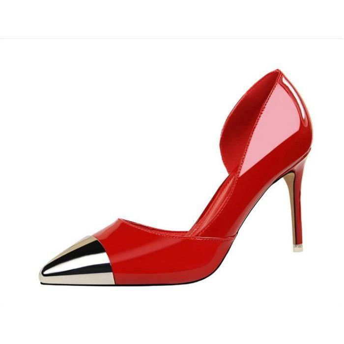 Les Femmes Rouge Talon Achat Pour Aiguille Chaussure À qjc43R5AL