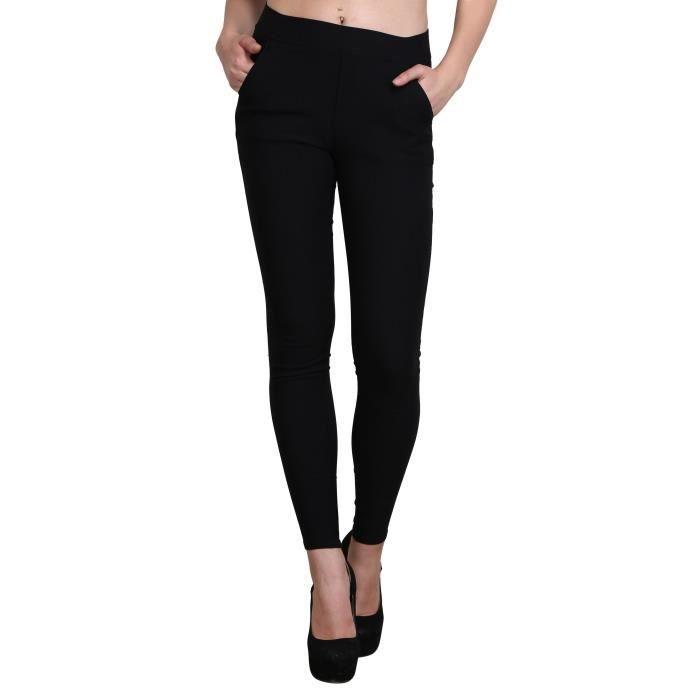 Simple Les Femme Lycra Taille Pantalons Ethniques Pour Droites Fond Étroit Strechable T41py 34 Fit De Filles Slim bY7yv6fg