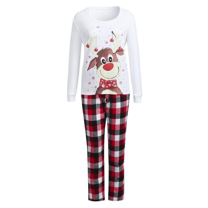 Famille Nuit De Pantalon Maman Blanc Pyjama À Carreaux Femmes Ensemble Assortis Noël Blouse sdrCtQh