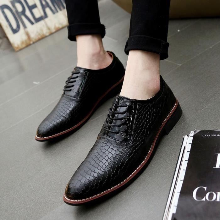 Hommes Chaussures Véritable Cuir 2875 Flats or Noir 2875 De En 8 Hombre Mocassins Oxfords ITwFq4RW