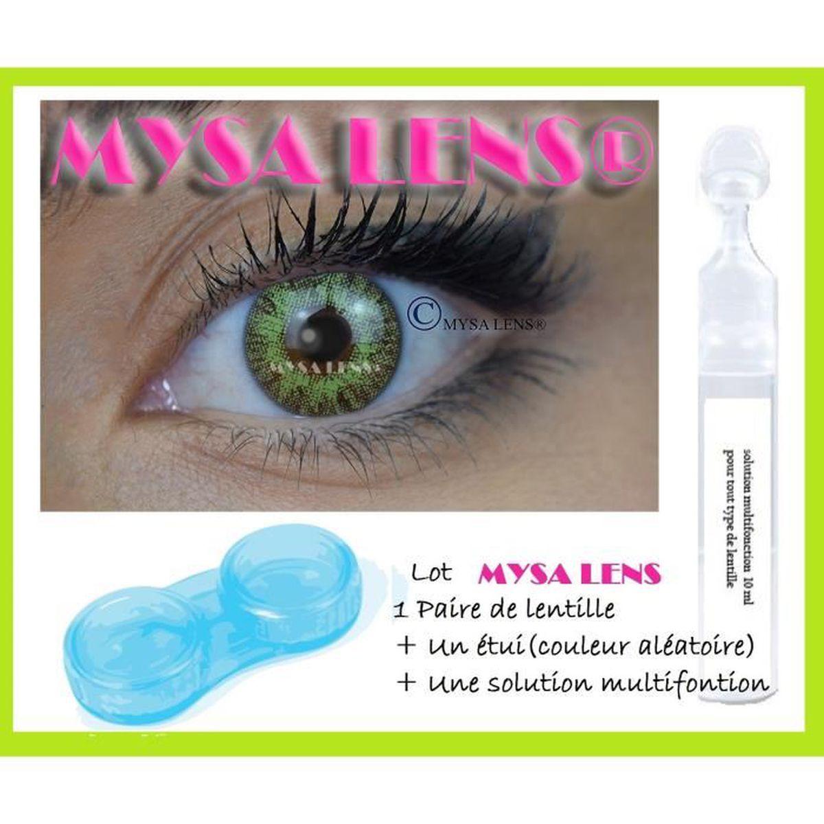 LENTILLES DE CONTACT MYSA LENS LOT Lentille de contact de couleur vert 31a59ed1e439