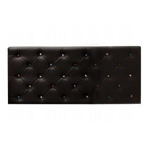 TÊTE DE LIT Tête de lit Diane 160x60cm Chocolat   Strass multi