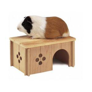 ACCESSOIRE ABRI ANIMAL Maison en bois pour cobaye - sin4645