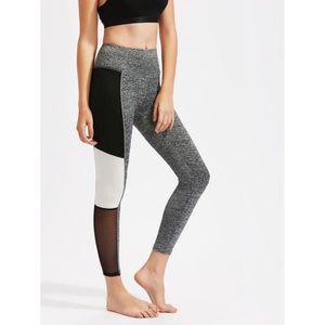 Legging Sport Femmes color-block tricoté Multicolore Classique 90%  Polyester Multicolore - Achat   Vente pantalon de sport - Cdiscount 7a97b807b71