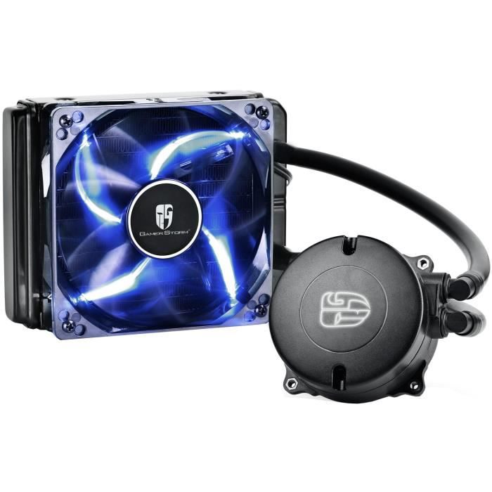 DEEPCOOL Kit de refroidissement pour processeur Maelstrom 120T - Kit Watercooling AIO 120mm - 1x120mm - Led bleu - 757g - Noir